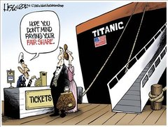Cartoon - Titanic Fair Share - Titanic Cartoon