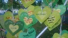 Green hearts for the love of
