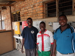Mwimwa teachers, students and fuse boxes