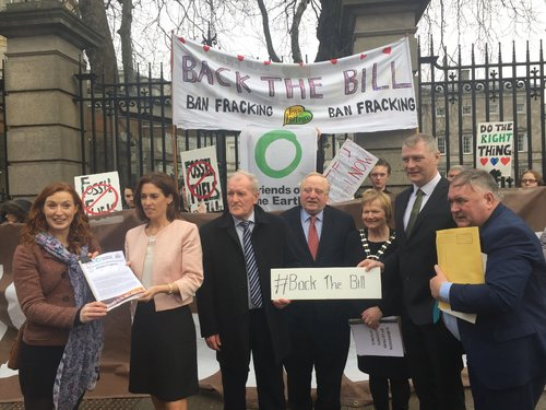 Fracking petition handover 1 Feb