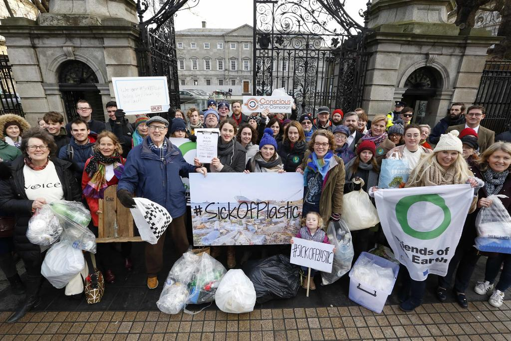 NO FEE0181 Sick of Plastic Campaign at Dail copy