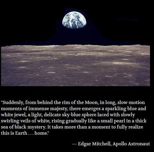 Earthrise and quote