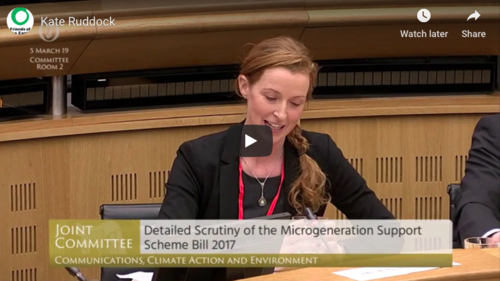 Kate addressing Oireachtas Committee March 2019