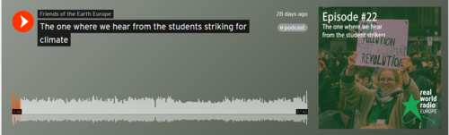FoEE Soundcloud podcast on school strikes.PNG
