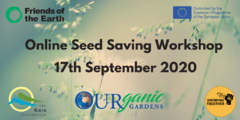 Seed Save workshop graphic for webinar