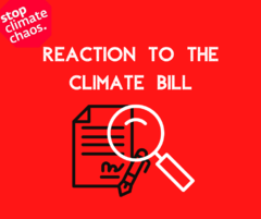 Reaction to  climate bill